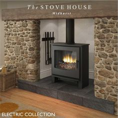 See how realistic these Broseley electric stoves are & perfect for any room: Desire 5 6 & 7 Serrano York & more. Contact The Stove House in West Sussex 01730 810931 Electric Log Burner, Electric Fires, Electric Wood Burning Stove, Electric Stove Fireplace, Stove Installation, Home Fireplace, Fireplace Ideas, Cooking Stove, Bedrooms