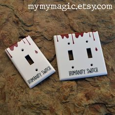 Humanity Switch TVD Reference Light Switch Plates - Single or Double Stefan Salvatore, Vampire Diaries The Originals, The Vampire Diaries, Teen Room Decor, Room Decor Bedroom, Vampire Party, Diary Decoration, Vampire Diaries Wallpaper, Mini Canvas Art