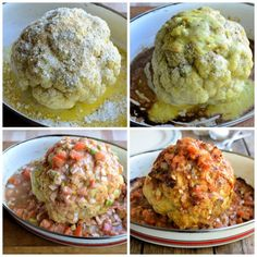 Lavender and Lovage | Whole Roasted Cauliflower in a Spicy Mexican Sauce | http://www.lavenderandlovage.com