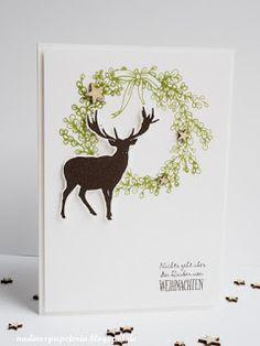 Nadines Papeteria: Weihnachtskarte mit Hirsch