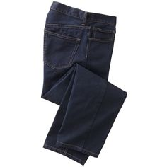 Stretch Bull-Denim Travel Jeans ($79) ❤ liked on Polyvore featuring men's fashion, men's clothing, men's jeans, men, clothing - trousers, clothing&accessories, menswear, true indigo, mens denim jeans and mens stretch jeans