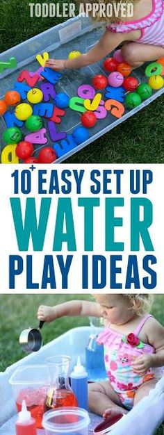 10+ Water Sensory Tub Activities for Toddlers #summer #toddleractivities #waterplay #sensoryplay
