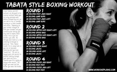 Tabata Style Boxing Workout great to tone abs Cardio Training, Weight Training, Cardio Boxe, Boxing Routine, Boxing Drills, Boxing Boxing, Boxing Circuit, Punching Bag Workout, Heavy Bag Workout
