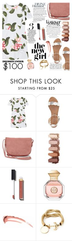"""Under $100: Summer Dresses"" by martinabb ❤ liked on Polyvore featuring MANGO, Sole Society, TOMS, Chanel and Tory Burch"