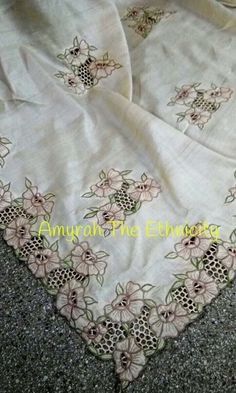 Discover thousands of images about Hand work sarees.Whatsapp on 9496803123 for details and customisation.we do all types of handembroidery, appliqué work, cutwork, maggam work, bridal wear etc Embroidery Suits Punjabi, Zardozi Embroidery, Hand Embroidery Dress, Embroidery Sampler, Border Embroidery Designs, Embroidery Suits Design, Machine Embroidery Designs, Salwar Designs, Kurti Designs Party Wear