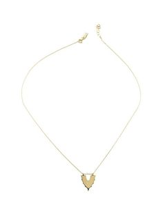 Drift Small Shield Necklace is made with a brass shield pendant on gold fill chain.  Length: 18″ plus 1″ extension.