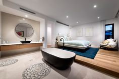 Luxury guest suite designed and built by Urbane Projects. Stone Flooring, Guest Suite, Coastal, Bedroom, Luxury, Building, Interior, Projects, Home