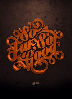 great typography, love the colours and the highlights on this