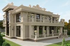 59 Trendy Ideas For Exterior Villa Design Villa Design, Modern House Design, Architecture Design, Classic Architecture, Villa Plan, Interior Design Companies, Best Interior Design, Style At Home, Conception Villa