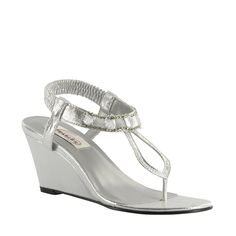 Mila shoe in silver...gorgeous!  #WeddingShoeInspirations