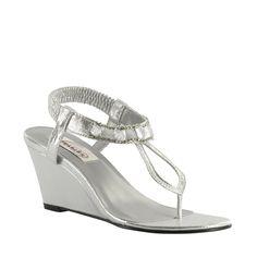 Mila shoe in silver...gorgeous!  #WeddingShoeInspirations