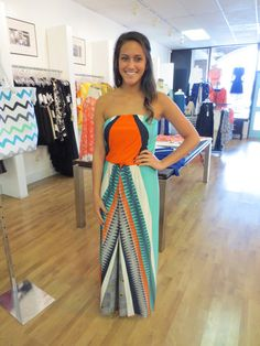 The Buzz Boutique — Nothings Wrong Maxi Dress In Orange Print