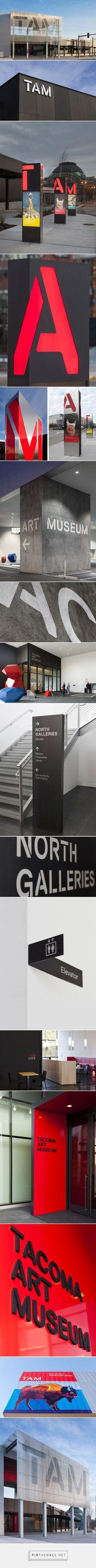 Tacoma Art Museum | Sinalização, sinalizar, referências, signage - created via https://pinthemall.net