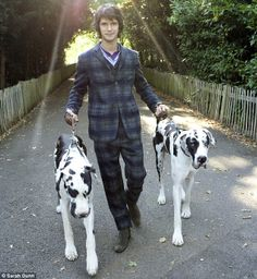 Ben Whishaw. The suit and Harlequin Great Danes with unclipped ears. Awesomeness