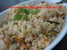 insalata di riso alla pescatora #insalatadiriso #riso http://blog.giallozafferano.it/lericettedinapoli1/insalata-di-riso-alla-pescatora/