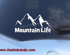 Mountain Life - Camping hiking sticker - Vinyl Sticker Car Decal