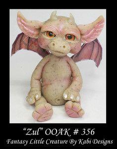 Fantasy Baby Dragon - One Of A Kind Polymer Clay Sculptures | Art-Doll-Polymer-Clay-Fantasy-Miniature-Dragon-Fairy-DollHouse-CDHM ...