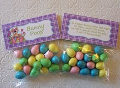 Printable Easter Bunny Poop Bag Toppers by PinkPosyPaperie on Etsy