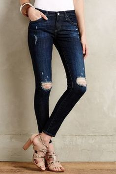 AG Legging Ankle Jeans 2 Years Night-dive Ripped 24 Leggings