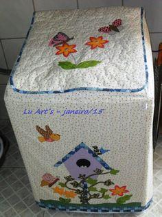 """Lu Art""""S - Capa para lavadora de roupas Electrolux 12kg"""