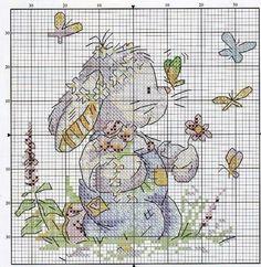 Somebunny to love Cross Stitch For Kids, Cute Cross Stitch, Cross Stitch Animals, Counted Cross Stitch Patterns, Cross Stitch Designs, Cross Stitch Embroidery, Embroidery Patterns, Hand Embroidery, Easter Cross