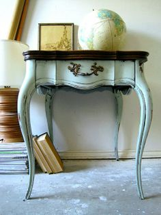 Vintage blue side table