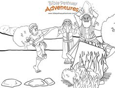 A coloring page for kids from the bible story, Path To Freedom. Moses smashes the golden calf. He was angry!