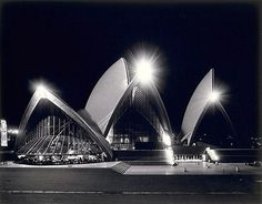 **Artist Name: Max Dupain Name of Work: Sydney Opera House at night Date: 1973 Medium: Photography Size of Work: 44.9 x 57.3cm image