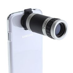 8X Telescope Camera Lens with Back Case and Strap for Samsung Galaxy S4 I9500 - USD $ 9.95