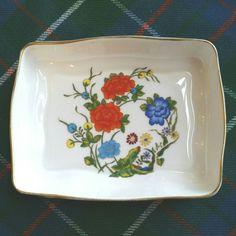 Bone China trinket dish ring dish Aynsley by RoseMackenzieEstate