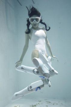 Underwater girl cosplay fetish returns with Manabu Koga's Underwater Knee-High Girls plus Underwater Photos, Underwater Photography, Cyberpunk, Art Manga, Pose Reference Photo, Photography Series, Tokyo Otaku Mode, Dynamic Poses, Ex Machina