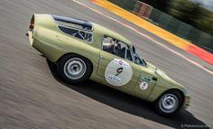 Again, my favorite Alfa, the Tubolare Zagato (TZ), here in action at Spa-Francorchamps in Belgium.