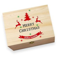 Celebrate the yuletide season by gifting one of these beautiful Christmas Eve boxes. Suitable for Children (and adults) of all ages. Personalised by either Laser engraving or Full Colour printing they make a fantastic Christmas gift as well as a keepsake.Each item is printed directly onto the box for a high quality, permanent finish, ensuring the Christmas Eve box can be used every year. A thoughtful gift perfect for holding treats and keeping family traditions every Christmas Eve.Give The…