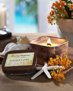 Tommy Bahama - Island Blend Square Poured Candle Tin