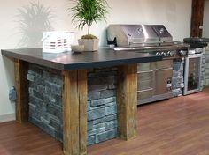 Outdoor kitchen idea: