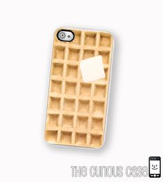 iPhone Case Waffle / Hard Case For iPhone 4 and iPhone 4S Kawaii Breakfast Food. $17.99, via Etsy.