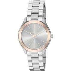 Michael Kors Women's MK3514 'Mini Slim Runway' Stainless Steel Watch by Michael…