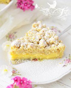 Apfel Streuselkuchen mit Vanillepudding