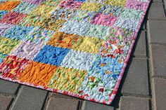 Love U Charm Quilt and Orange Peel Quilting Tutorial by thegirlwhoquilts, via Flickr