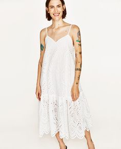 Image 2 of EYELET DRESS WITH SHIMMERY STRAPS from Zara