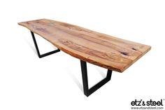 Etz & Steel Magnus Live Edge Table Black Base #woodslab #woodwork #tables #homedecor #furniture