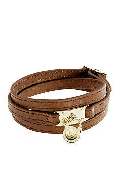 Michael Kors triple wrap pad lock bracelet.