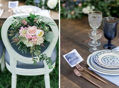 floral reception chair details
