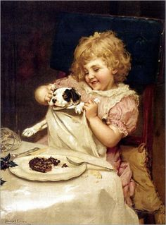 Arthur John Elsley ~ Plum Pudding - Wait A Minute, 1893