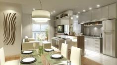 Apartamentos Decorados: Cozinhas Americanas
