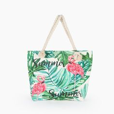 "Universe of goods - Buy ""Hot Sale Flamingo Printed Casual Bag Women Canvas Beach Bags High Quality Female Single Shoulder Handbags Ladies Tote for only USD. Flamingo Beach, Flamingo Print, Pink Flamingos, Owl Print, Flamingo Top, Womens Beach Bag, Sac Lunch, Flamingo Pattern, Types Of Bag"