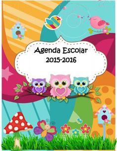 Agenda curso 2015-2016. Motivo Búhos (1)
