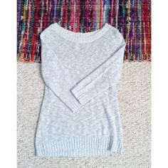 Grey Knit Sweater Let me know if you have any questions! ✖️ Old Navy Sweaters Crew & Scoop Necks