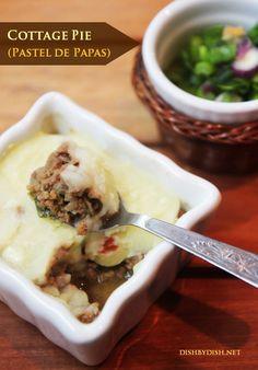 """Cottage Pie - Also known as """"Pastel de Papas"""" in Argentina..{warm, filling + comforting} Recipe: http://dishbydish.net/2013/06/19/cottage-pie-pastel-de-papas/"""