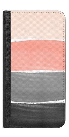 Casetify iPhone 7 Wallet Case - Pink and Gray Stripes by Jande Laulu #Casetify